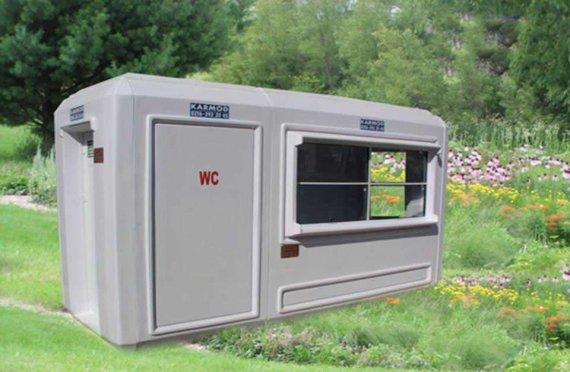 150x390 prenosná toaleta a bezpečnostná kabína