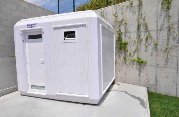 270x270 prenosná toaleta a sprchová kabína
