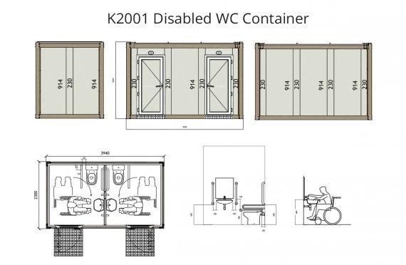K 2001kontajnerové WC pre vozíčkarov