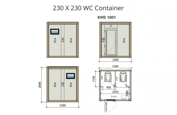 KW2 230X230 Wc kontajner