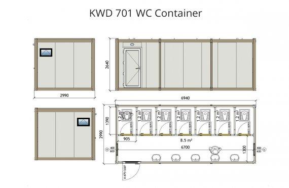 KWD 701 Wc Kontajner