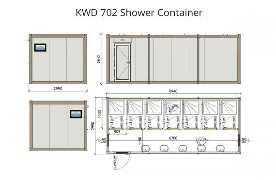 KWD 702 Sprchový kontajner