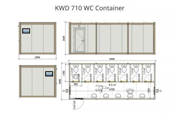 KWD 710 Wc Kontajner