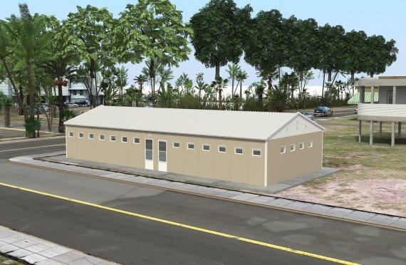 Prefabrikované WC a Sprcha budova 145 M²