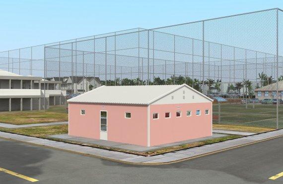 Prefabrikovaná toaleta a sprcha budova 70 m²