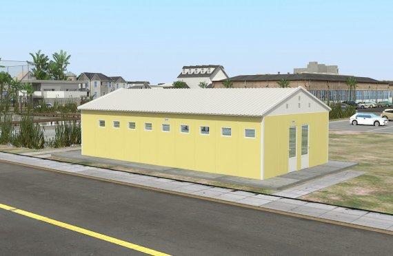 Prefabrikovaná budova toalety a sprchy 82 M²