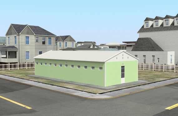 Prefabrikované WC a Sprcha stavba 97 M²