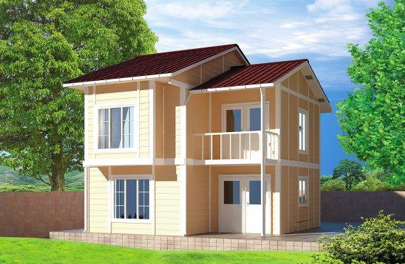 Prefabrikovaný dom 91 m²