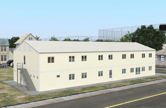 Prefabrikovaný internát 662 m²