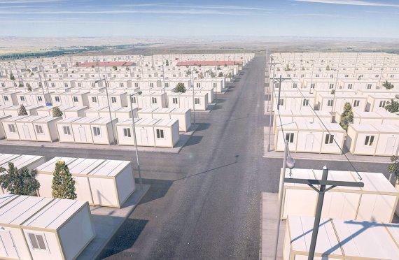 Modulové mesto pre utečencov