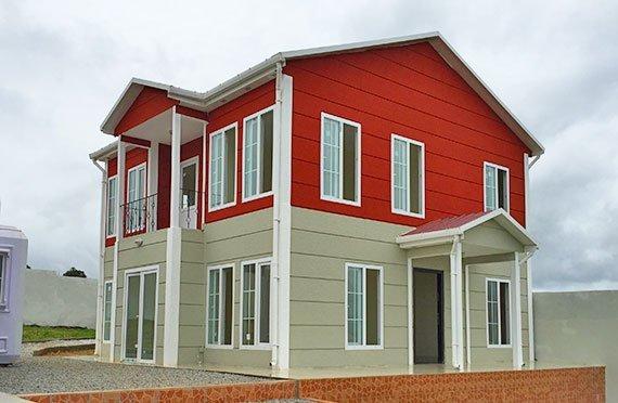 Dvojpodlažné prefabrikované domy