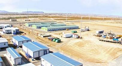 Mestečko pre robotníkov na výstavbe plynovodu do Európy Shah Deniz od spoločnosti Karmod